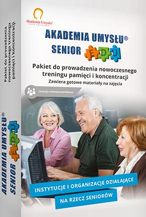 Jak zorganizować trening pamięci dla seniorów dowiesz się z gotowych materiałów zawartych w pakiecie Akademia Umysłu Senior EDU